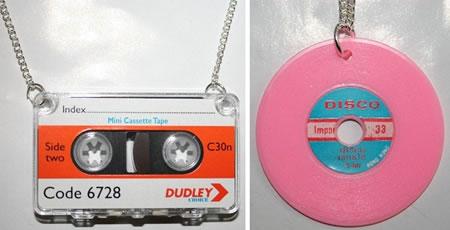 Kassett- och vinylhalsband