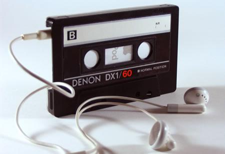 Kassettband som fodral för iPod