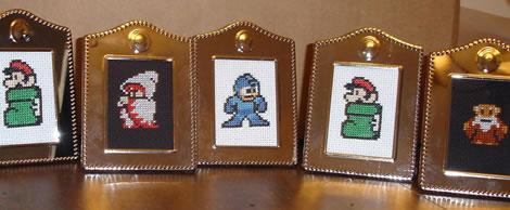 Nintendo-karaktärer av korsstygn