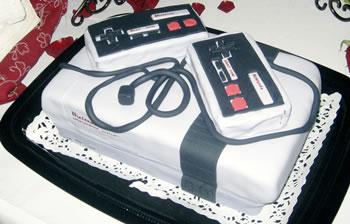 Nintendo bröllopstårta