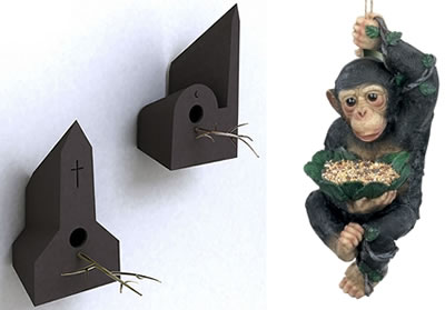 Holy Homes & Chimp Bird Feeder