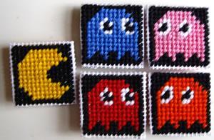 Pac-Man kylskåpsmagneter
