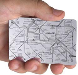 Paris tunnelbana i rostfritt stål