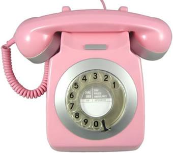 Rosa retrotelefon