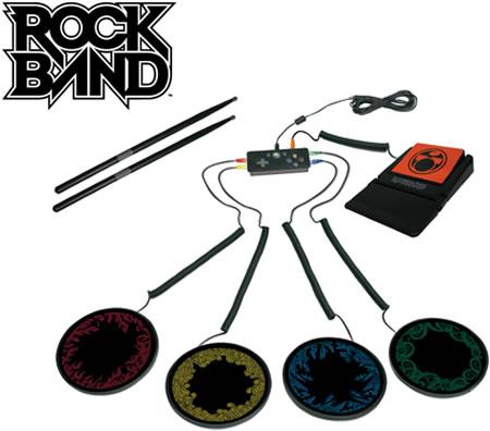 Portabelt trumset för Rock Band på Xbox 360