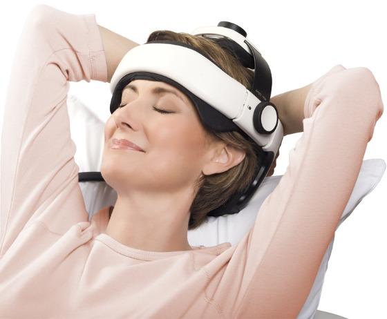 Bärbar massagepryl för huvudet