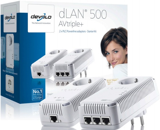 dLAN 500 AVtriple + powerlineadapter