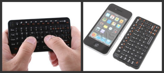 Ett pyttelitet Bluetooth-tangentbord