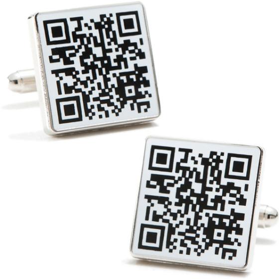 Manschettknappar med QR-kod
