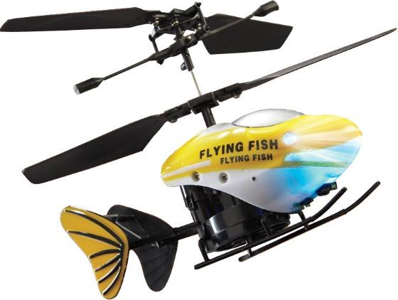 Radiostyrd fiskhelikopter