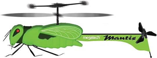 En grön radiostyrd insekt