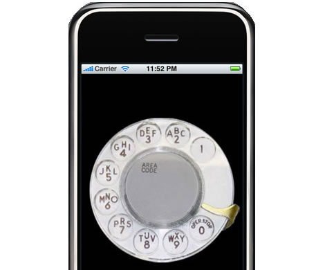 iRetroPhone - gammeldags telefon för iPhone
