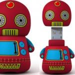 Söt leksaksrobot som USB-minne