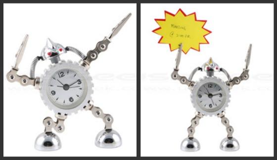Robot som väckarklocka
