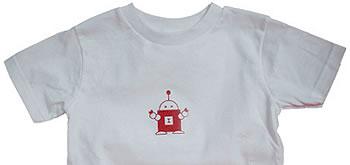 T-shirt med robot