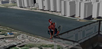 Spider-Man på Queensboro Bridge