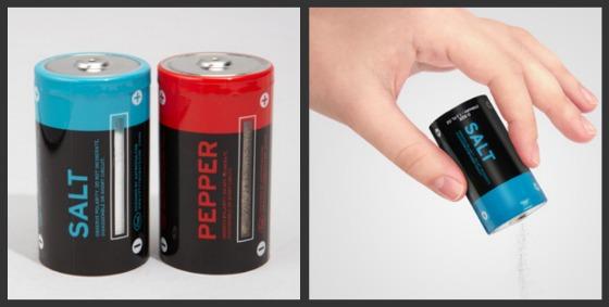 Batterier som salt- och pepparkar