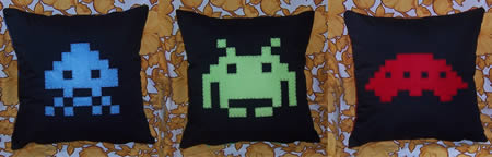 Space Invaders kuddfodral
