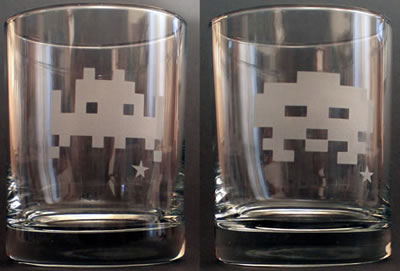Space Invaders whiskyglas