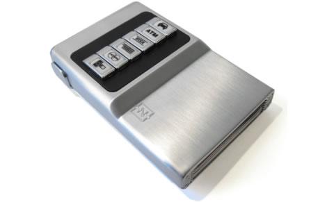 Plånbok i aluminium