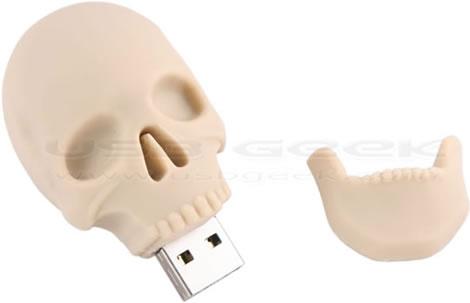 USB-minne i form av en dödskalle