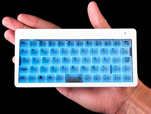 Ett lysande trådlöst litet tangentbord