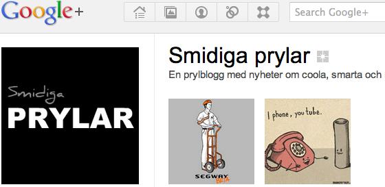 Smidiga prylar på Google+