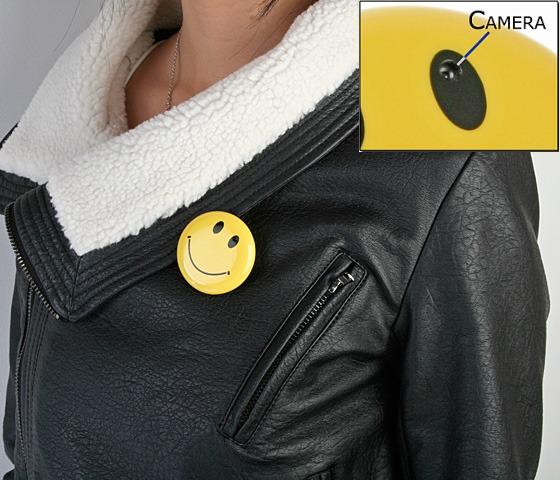 Spionkamera i badge