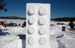 Lego av snö
