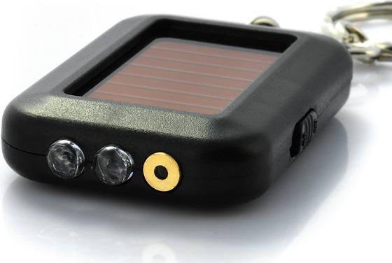 Soldriven laserpekare med ficklampa