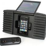 Soldriven högtalardocka för iPhone och iPod