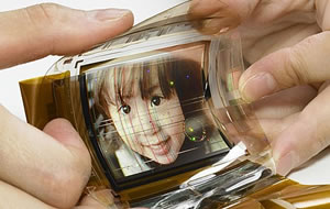 Flexibel Sony OLED-skärm