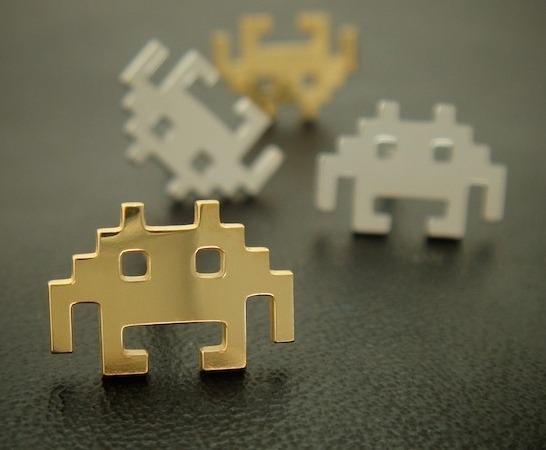 Space Invaders-örhängen