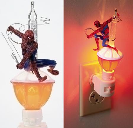 Spider-Man nattbelysning