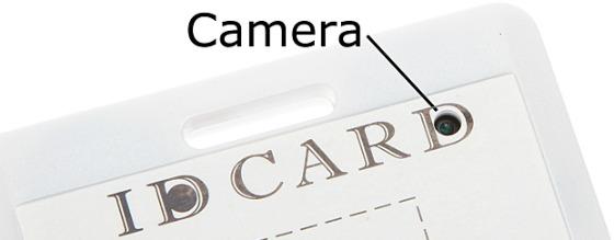 Spionkamera i passerkort