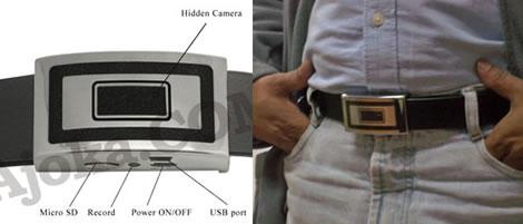 Bältesspänne med spionkamera