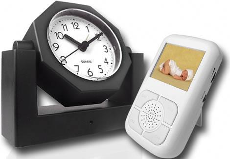Trådlös spionkamera i väckarklocka