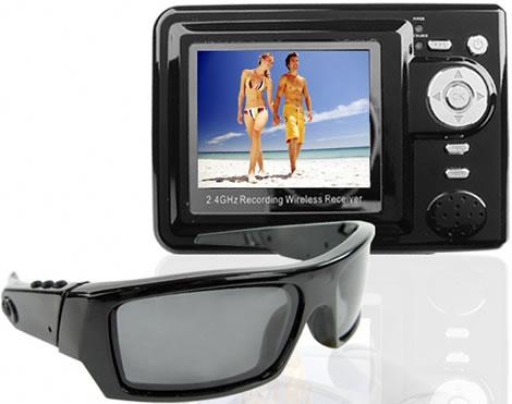 Solglasögon med spionkamera