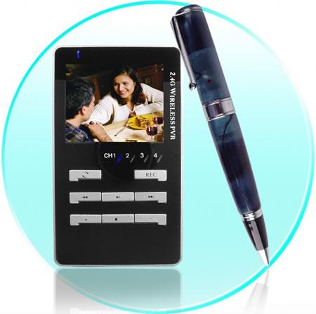 Penna med trådlös spionkamera