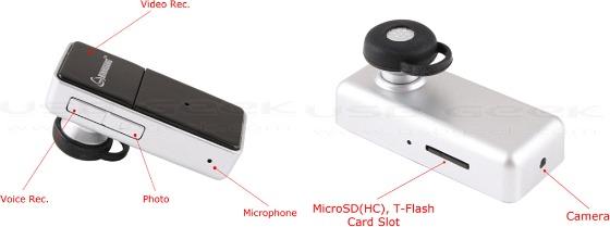 Spionkamera i Bluetooth-headset