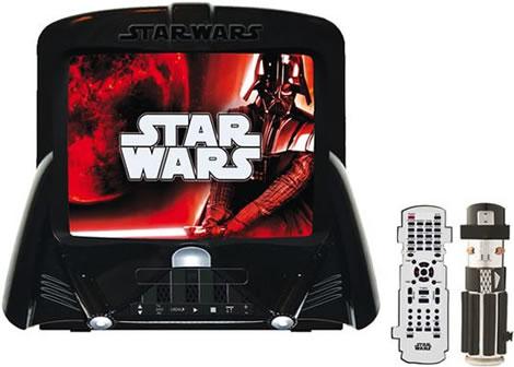Star Wars TV/DVD med lasersvärd till fjärr