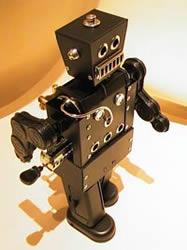 Ångdriven robot