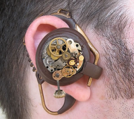 Steampunk-inspirerat headset
