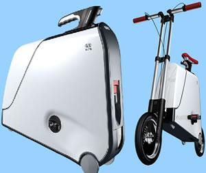 Cykel i resväska