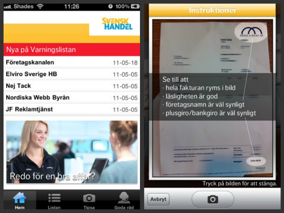 iPhone-app från Svensk Handel