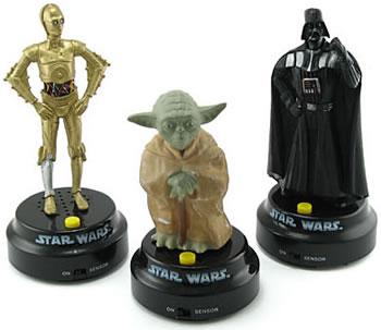 Talande Star Wars-figurer för bilen