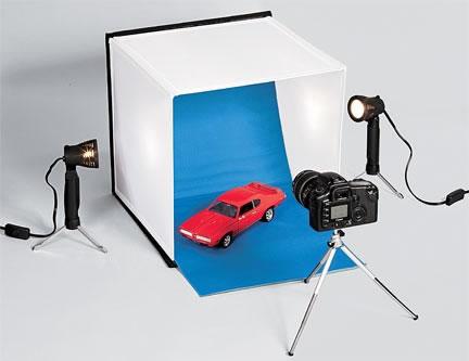 Fotostudio för skrivbordet
