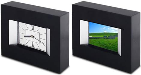 Digital klocka med fotoram