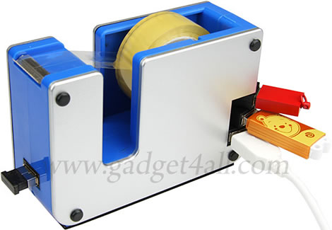 Tejphållare med USB-hub
