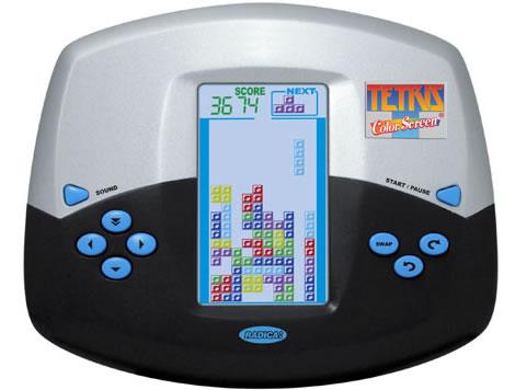Handhållet Tetris-spel med 2-5-tums färgskärm